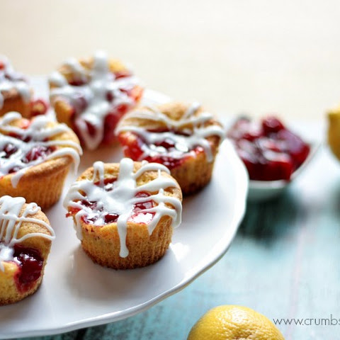 Mini Lemon Cherry Cakes