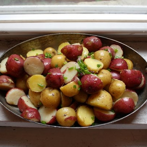 New Potatoes with Butter and Chives