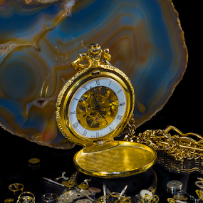 Pocket Watch 3 by Shaun White - Artistic Objects Antiques ( yeovil, still life, watch, quartz, gold )