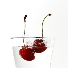cherry by Ivan Vukelic - Artistic Objects Other Objects (  flash, cherry,  splash,  water,  ivo,  vuk,  vukelic )