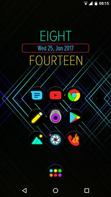 Neon Glow C - Icon Pack- screenshot