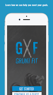 The Grunt Fit App Fitness app screenshot for Android