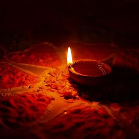 Lamp by Shiva Ranjita - Abstract Fire & Fireworks ( single, lamp, night, design, oil )