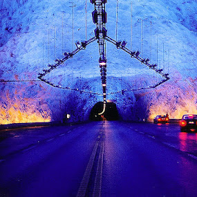 Longest roadtunnel in the World by Raymon Brugman - Transportation Other ( tunnel longest norway )