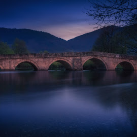 Roman Bridge by Bakir Lojo - Landscapes Waterscapes ( water, sunset, sundown, bosnia, sarajevo, long exposure, bridge, longexposure )