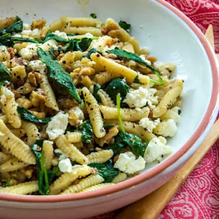 Ricotta Cavatelli with Toasted Walnuts & Baby Greens