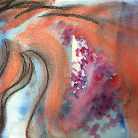 abstract horse watercolor by Jeanne Knoch - Painting All Painting