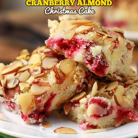 Cranberry Almond Christmas Cake