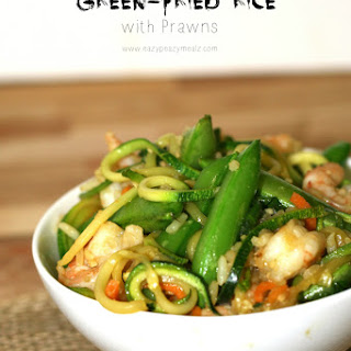 Green-Fried Rice with Prawns