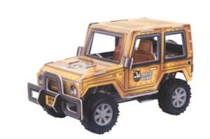 """Конструктор """"3D Action Puzzle"""" Джип XL Коричневый"""