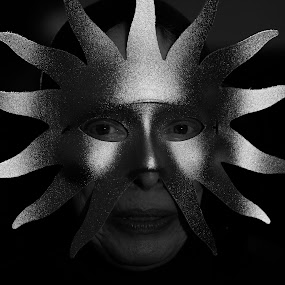 The Sun by VAM Photography - Public Holidays Halloween ( b&w, woman, costume, culture, sun )