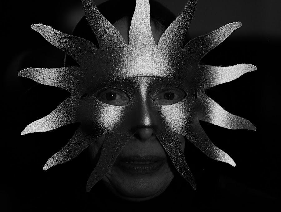 The Sun by VAM Photography - Public Holidays Halloween ( b&w, woman, costume, culture, sun,  )