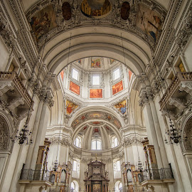 Cathedral, Salzberg, Austria by Graeme Hunter - Buildings & Architecture Places of Worship