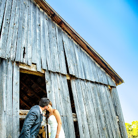 Country Wedding by Robert Blair - Wedding Bride & Groom ( wedding, bride, rustic, groom, country )