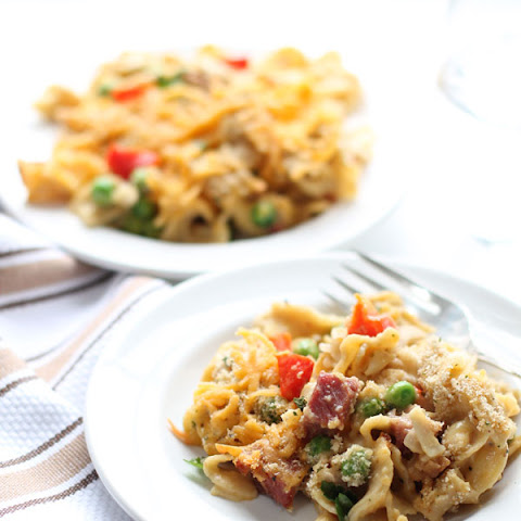 Easy Ham and Vegetable Noodle Casserole