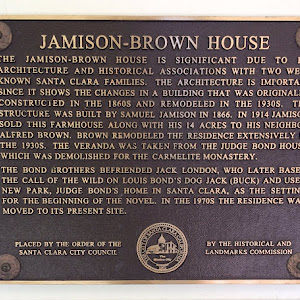 JAMISON-BROWN HOUSE THE JAMISON-BROWN HOUSE IS SIGNIFICANT DUE TO ITS ARCHITECTURE AND HISTORICAL ASSOCIATIONS WITH TWO WELL KNOWN SANTA CLARA FAMILIES. THE ARCHITECTURE IS IMPORTANT SINCE IT SHOWS ...