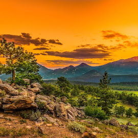 Dream Valley  by Tomas Rupp - Landscapes Mountains & Hills ( mountains, sunset, meadow, trees, forest, rock formation, valley, landscape )