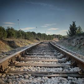 Follow me... by Darko Žgela - Transportation Railway Tracks ( railway, railroad, train, road, follow )