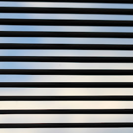 Blinded by Janet Herman - Abstract Macro ( clouds, abstract, macro, sky, blinds, blinded )