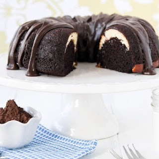 Ribboned Fudge Bundt Cake
