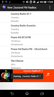 New Zealand FM Radios - screenshot