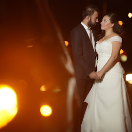 road by Onti Cinematographer - Wedding Bride & Groom ( lights, street, photography, studiaki, onti )