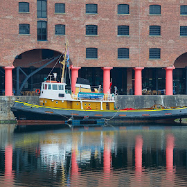 Reflections by Howard Wilson - Buildings & Architecture Office Buildings & Hotels ( river mersey, albert dock, liverpool, reflections, historic )