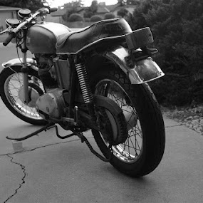 1971 BSA Lightning 650cc by Ray Anthony Di Greco - Black & White Objects & Still Life ( black and white, transportatio )