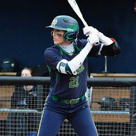 Notre Dame Captain Karley Wester by Benny Lopez - Sports & Fitness Other Sports ( melissa cook stadium., notre dame, softball )