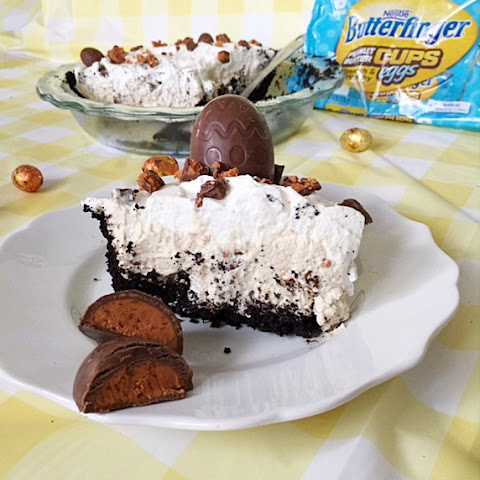 BUTTERFINGER® Egg Peanut Butter Pie