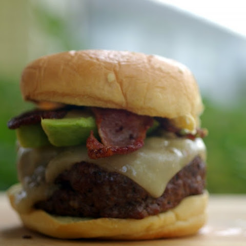 Jamaican Jerk Bacon and Pepper Jack Cheeseburger