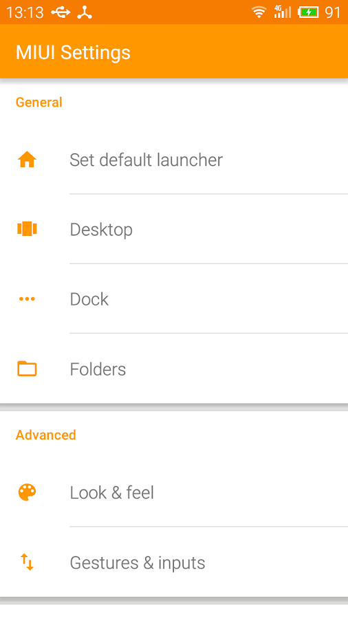 MIUI Launcher Screenshot 2