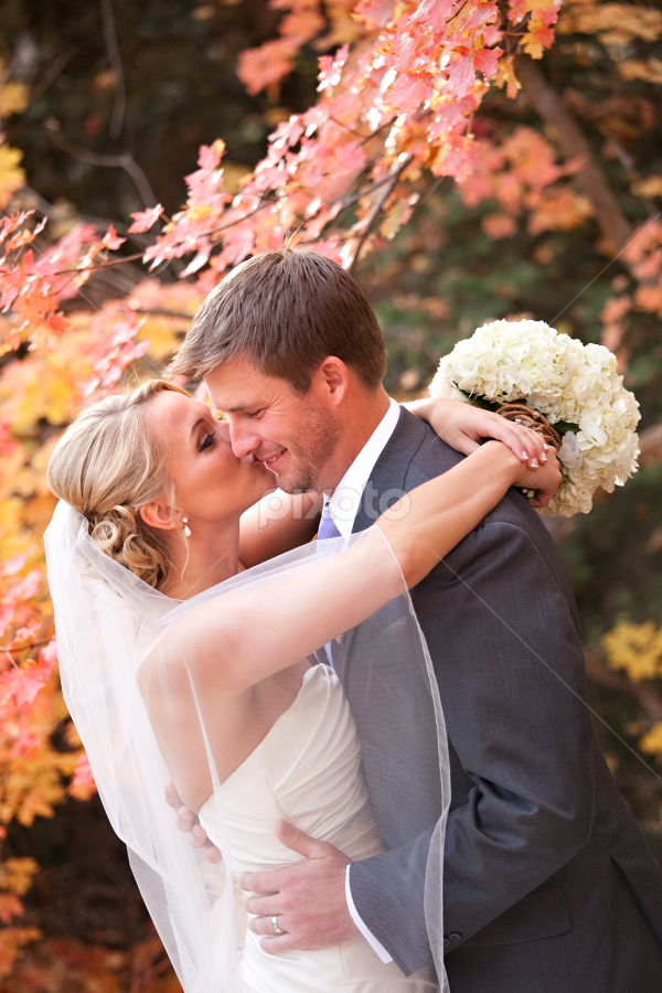 by Melissa Papaj - Wedding Bride & Groom ( autumn wedding, salt lake city wedding, millcreek canyon, destination wedding, millcreek inn, mountain wedding, fall wedding, utah wedding photographer, utah wedding )