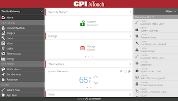 Screenshot of CPI Security