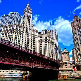Chicago river by Cristobal Garciaferro Rubio - Buildings & Architecture Office Buildings & Hotels ( water, chicago river, buildings, chicago, river )
