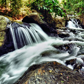 wera river part three by Hajar Wisnu Dwiputra - Nature Up Close Water ( rock, slow speed, river )