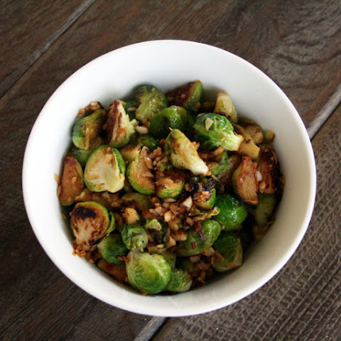 Garlic Ginger Brussels Sprouts