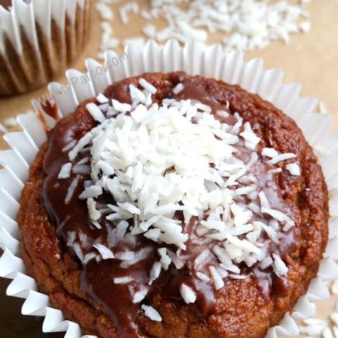 Coconut Cream & Chocolate Topped Banana Muffins