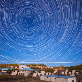 Star Whirl by Anthony Lau - Abstract Patterns ( inner mongolia, houses, pwclines, star trail, polaris, china )