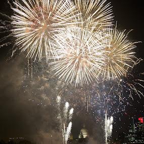 London Lights  by Benjamin Arthur - Abstract Fire & Fireworks ( london 2012, london, thames, benjamin, olympics, mayor, photographer, fireworks, benjaminarthur.com, st.pauls, photography, arthur )
