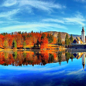 autumn by Anže Papler - Landscapes Waterscapes