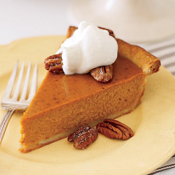 Pumpkin Pie with Bourbon Whipped Cream Recipe | Yummly