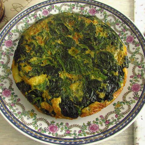 Spanish Omelette With Spinach