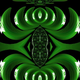 Green Design by Capucino Julio - Illustration Abstract & Patterns ( green, art, fractal, floral, design )