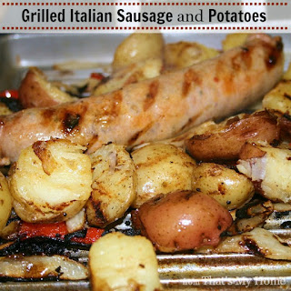 Grilled Italian Sausages and Potatoes