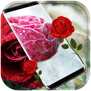 Frozen snow rose Free live wallpaper for PC-Windows 7,8,10 and Mac