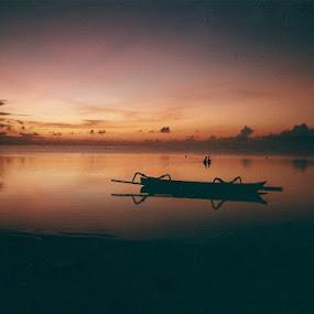 Sunrise fishing, Bali by Paul White - Landscapes Sunsets & Sunrises ( bali, fishing )