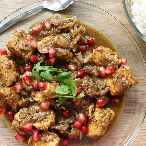 Pomegranate chicken (Fesenjan)