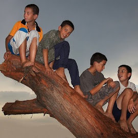 four brothers by Leon Pelser - Babies & Children Children Candids ( monopod, iso 100, f 4, daylight wb, 1/80,  )