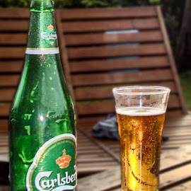 Beer by Abdul Rehman - Food & Drink Alcohol & Drinks ( chilled, beer, green, drink, carlabarg, yellow )